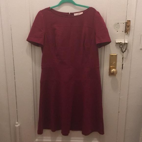LOFT Dresses & Skirts - Raspberry A line LOFT dress